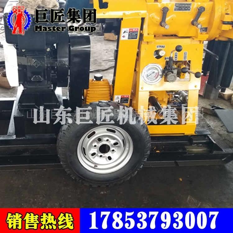 拖车式百米水井钻机XYX-130带轮子的钻井机