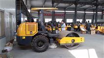 3.5噸駕乘式單鋼輪后膠輪振動壓路機