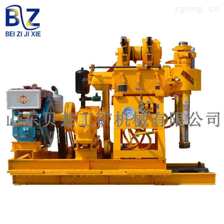 百米地质勘察钻机 柴油发动机 动力强劲