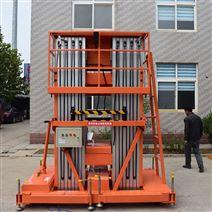 厂家铝合金单双柱10米云梯仓库外墙升降机