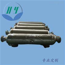 不锈钢螺旋螺纹管换热器 真空炉冷凝器